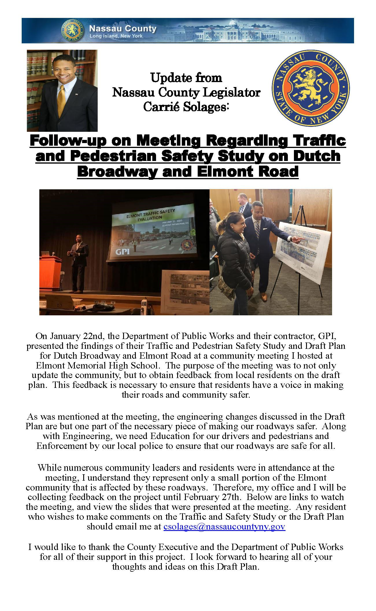 Dutch Broadway Elmont Road Meeting Followup Opens in new window