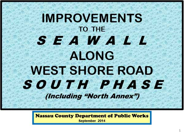 Improvements to Seawall Along West Shore Road